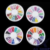 120PCS 3D nail art decorations Mixed Fimo Clay Nail Art Tips Slice Acrylic Decoration Manicure Wheel Fruit nail art Beauty 5585