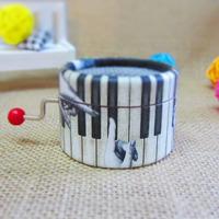 Piano paper round hand crank music box Yunsheng music box movement DIY Angela's gifts free shipping