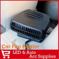 12V Car Auto Vehicle Portable Ceramic Heater Heating Fan Defroster Demister Black 150W