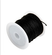 10Meters 0.5mm Black Waxed Cotton Cord Beading & Necklace & Bracelet Cord / Jewellery Making Cord 4Q256(China (Mainland))