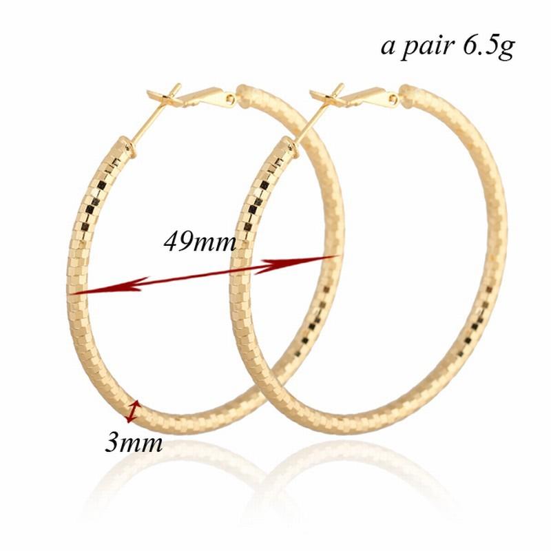 Fashion Big Hoop Earrings 18K Gold Plated Rose Gold Plated White Gold Plated Earrings Women Fashion Earings 2014 Free Shipping(China (Mainland))