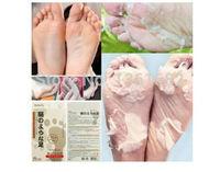 Free Shipping 1 Pair Foot Peeling Renewal Mask Remove Dead Skin Cuticles Heel Care Mask E5576