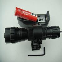 2000 Lumen CREE T6 LED Tactical Gun Rifle Flashlight Torch Hunting Light Flashlight Mount 20mm Rail Charger 18650 Battery