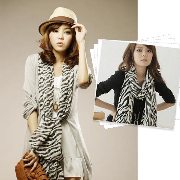Multi-Usage Fashion Women Zebra Animal Prints Shawl Lady Long Zebra Large Stripe Scarf Popular through four seasons K5BO(China (Mainland))