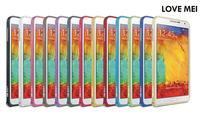 1 Piece Original Love Mei 0.7mm Ultra-thin Hippocampal Buckle Luxury Metal Bumper for Samsung Galaxy Note 3 N9000/N7200