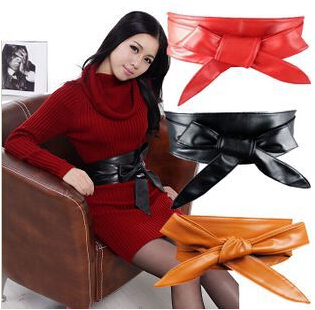New Fashion European and American fashion Wide belt bow tie decoration wide belt girdle Free Shipping(China (Mainland))
