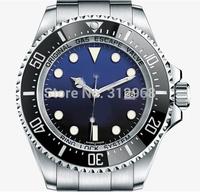 new arrival 44mm deep blue face moveable bezel auto selfwinding mechanical wrist watch for men christmas gift