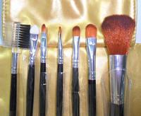 2014 new  High quality 7pcs   brush set  comestics golden  y817-1