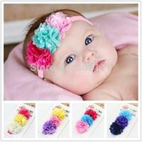 Baby Headband flower princess headband Girl's Head Accessories hairband elastic 10pcs HB279