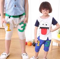 Kids Sz. 2 3 4 5 6 Year Gray Blue Knee Length shorts, Elastic Waist, Drawstring, SNAKE EYE