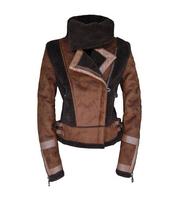 Winter Woollen Coat Women Outerwear Genuine Rabbit Fur Collar Thick Khaki Black Wool Coat Parka Casacos Femininos 2014  A 109