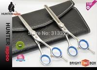 "Hot sales:5.5"" Professional Hair Cutting Scissors set 1pc razor shear+1 pc thinning shear with bag,Barber scissors Kits 440C"