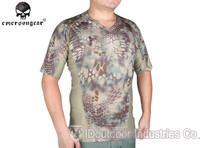 EMERSONGEAR V-neck Running Shirts Skin Tight Base Layer Breathable perspiration Short sleeve Tshirt EM9167MR Mandrake kryptek