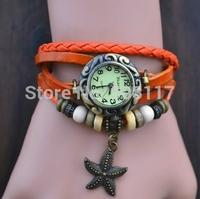 DHL free shipping to USA 60pcs/lot Vintage Retro animal charm bracelet watch  women casual watch male leather bracelet watch