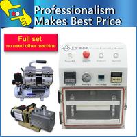 Free shipping OCA Lamination Machine Vacuum Laminator Laminating Machine Refurbish Repair with Vacuum Pump and Air Compressor