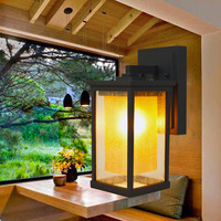LED Yard Lighting 220V 8W E27 Wall Mounted Lamp Aluminum Vintage Wall Sconces Outdoor Waterproof  Europe Style High Quality