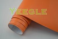 1.52x30M 5x98FT Super Quality Decorative orange matte vinyl car wrap Free Shipping