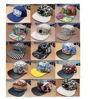 Custom-made 2014 Hot Lampwork  Adult 5 Panel Baseball Cap 50 Pcs/lot Color Mixed Randomly Hip-hop Hat
