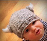 lovely animal Horn baby hats and caps kids boy girl crochet Knitted beanie hats children winter cap free shipping b8 SV006407