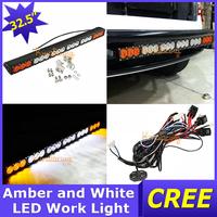"SUV 32.5"" 12V/24V Cree led headLight Bar 18000lm 180W 18X10W AWD 4WD Work Light 4X4 Flood Spot Beam Amber White Car + Relay Wire"