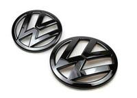 Volkswagen VW Scirocco Front and Rear Badge Emblem Set Gloss Black