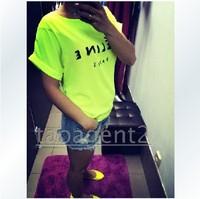 LORAL2014 Fashion Brand Women T-shirts Printed CE Paris Women Bats Sleeve t shirts high quality Chiffon Tops Loose Tees W293