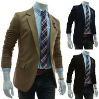 New 2014 Stylish Men's Casual Slim fit One Button Suit Blazer Coat Jackets Men Clothing M-XXL PX11