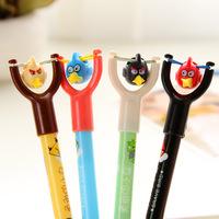 12pcs/lot Cute Brave Bird Ballpoint Pens Novelty Cartoon Plastic Ballpen Kawaii Stationery School Office Supplies Wholesale