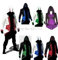 Hot Sale Assassins Creed 3 III Conner Kenway Hoodie Coat Jacket Anime Cosplay Assassin's Costume Cosplay Overcoat