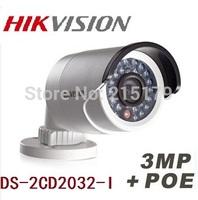 Hikvision Fast shipping Original gun waterproof security network cctv camera DS-2CD2032-I 3MP IR ip camera mini support POE