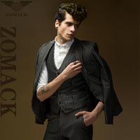 Men's Jacket  blazersNew 2014W-405 new men's business suits three-piece -008 Zuo Make workplace authentic suit suit 4607