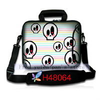 High Quality Cool Skull Print Notebook Accessories Laptop Shoulder Bags & Cases 15.6 Inch 10Pcs/Lot Customized