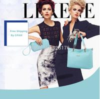 2014 bags piece set bag fashion shoulder bag genuine leather multifunctional trend women's handbag big bag