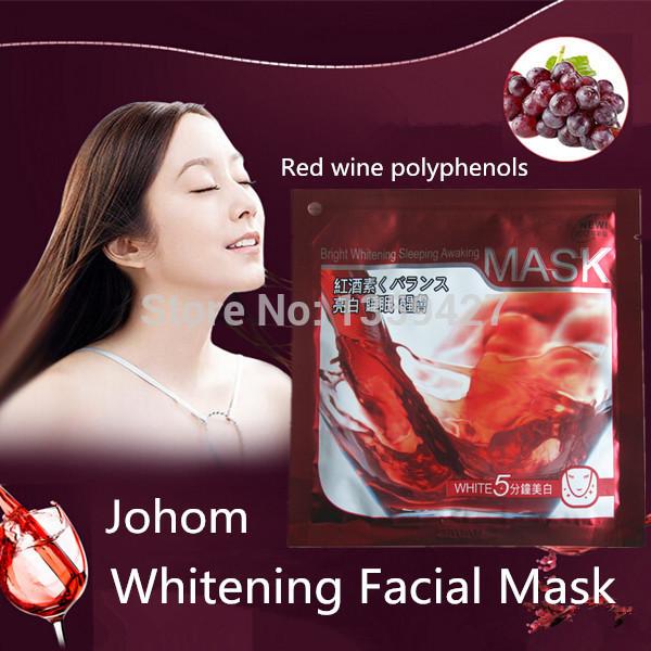 Hot selling 100% natural hydrating red wine polyphenols whitening facial mask(China (Mainland))
