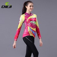 2014 Cheji  Arrivel Color Autumn Cycling   Long Jersey Long Pants sets Wholesale High Quality Bike Clothing