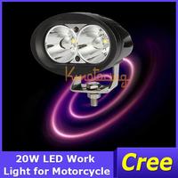 2x Car Spotlight 20W 4WD Motorcycle Off-Road Light Wagon Spot/Flood beam SUV Lamp AWD 4X4 2000lm 12V/24V Cree LED headLight