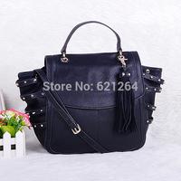 Fashion sac a main women vintage rivet handbag femme