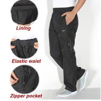 Big Size Breathable lining Black Sports Pants zipper Pocket XL-4XL Elastic Waist Running Joggers Trousers Sweatpants for Man