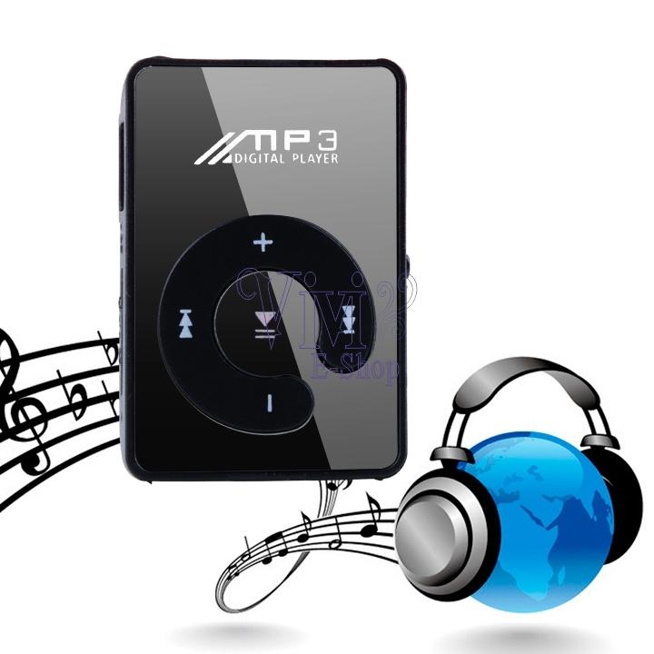 2014 New Black Plastic Case Stylish USB Mini Clip MP3 Music Player Belt Mirror Screen 16GB SD/TF Card Portable Sport MP3 Players(China (Mainland))