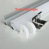 30m (30pcs) a lot, 1m per piece, Anodized diffuse or clear cover aluminium led lighting profile triangle