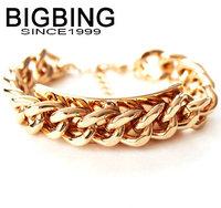 BigBing jewelry Fashion Golden chain Bracelet fashion jewelry good quality nickel free G349