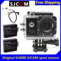 Free Shipping!Brand SJCAM SJ4000 1080P Car Cam Sports DV Action Camera 2XBattery+AV Out Cable