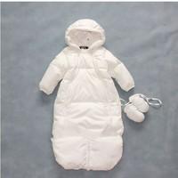 HOT Newborn Baby 0-12 month brand thickening Multifunction Sleeping Bag Winter Sleepsacks infant down jacket coat baby clothing
