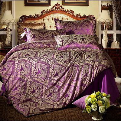 linge de lit de luxe hommage satin de soie jacquard. Black Bedroom Furniture Sets. Home Design Ideas