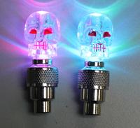 Wholesale 2pcs/lot Kito style bike Hot Wheels bicycle lights gas nozzle valve core light lamp Colorful lights gas nozzle QM08