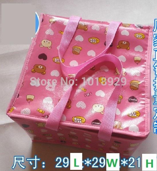 Atacado 1 Pieces animados 29x29x21cm saco térmico lancheira isolados Cooler Bag saco térmico exterior(China (Mainland))