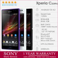 "sony s39h Original Sony Xperia C S39h 5""TFT BRAVIA Quad-Core 1.2GHz 3G GSM/WCDMA Dual-SIM 8MP WIFI Android OS 4.2 Unlocked Phone"