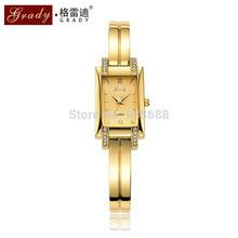 New Brand Grady fashion 18k Gold plated women watches 3atm waterproof ladies Quartz Watch Women Wristwatches