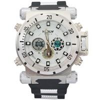 Military Watches Readeel 2 time Zone Men Sport  Watch Analog Steel Luxury Relogio rubber band Fashion Watch 2014 Sports Watch