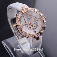 Long -wave high-grade white ceramic diamond watch authentic waterproof quartz watch fashion diamond watches 8874-2